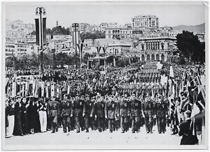 Italienische-Flieger-Legionaere-in-Genua-Orig-Pressephoto-von-1939