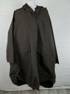 NWT-400-Grizas-Long-Rain-Wind-Breaker-Jacket-Button-Up-XXXL-Gray-Khaki-Green