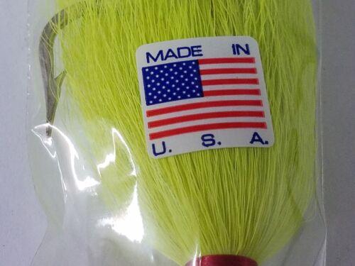 environ 45.36 g 1 s/&s Surf Master Jig 1.6 oz Blanc//Rouge 7//0 Crochet Disque Pour 2+