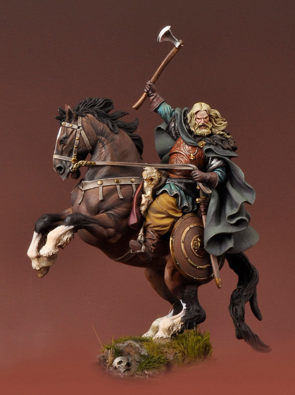 Andrea Miniatures Mounted Viking Warrior 54mm Unpainted Model Kit
