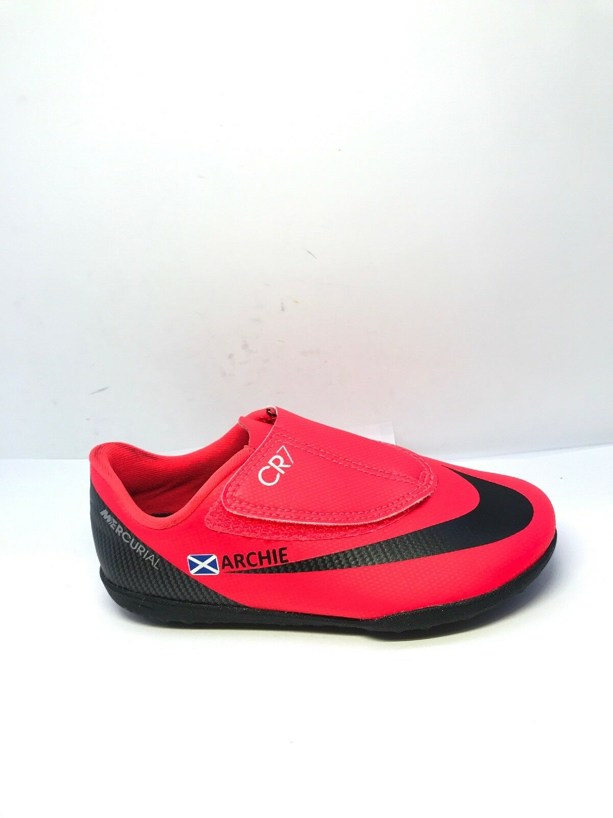 NIKE Youths CR7 Vapor Club TF Football Trainers (Red) UK12 Infant (Personalised)