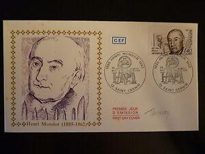 Franc France Premier Jour Fdc Yvert 2226 Henri Mondor 1,40+0,30f St Cernin 1982