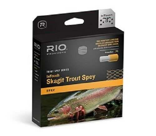 nuovo RIO INTOUCH SKAGIT TROUT SPEY  3 275GR INTEGRATED HEAD & LINE FOR 3 WT asta