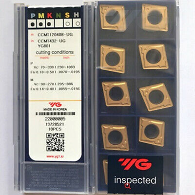 YG CNMG120408-UG YG801 CNMG432-UG YG801 Carbide inserts Turning inserts 10Pcs