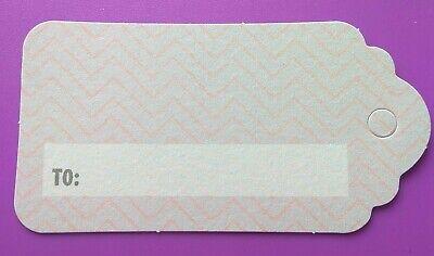 10 Piccole Etichette Regalo Mini Etichetta Craft Regali Scrapbooking Card Making Rosa Grigio A- Lustro