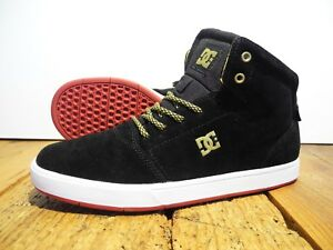 Details zu DC SHOES CRISIS HIGH SCHUHE NEU BLACK GOLD GR: US 7,5 EUR 40