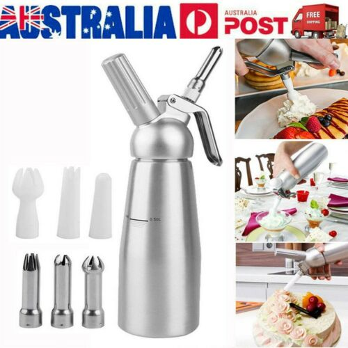 500 Ml Cream Whipper Whip Coffee Dessert Butter Dispenser Chargers Foam Whipped by Unbranded