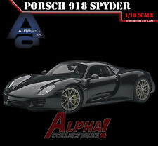 AUTOART 77928 1:18 PORSCHE 918 SPYDER BASALTSCHWARZ METALLIC BLACK SUPERCAR