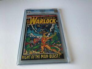 WARLOCK-1-CGC-8-5-WHITE-PAGES-ORIGIN-NIGHT-OF-MAN-BEAST-MARVEL-COMICS-1972