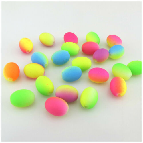 30PCS 12MM acrílico en forma de huevo de dos tonos granos para jewellwery makeing-Artesanía