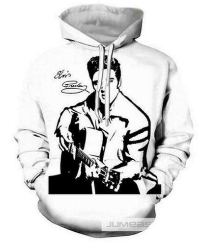 Women Men 3D Print ELVIS Presley Casual Hoodie Sweatshirt Pullover Jumper Tops
