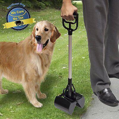 Pooper Scooper Rake Dog Pet Cat Large Plastic Waste Poop Clean Pick Up Clip Grip