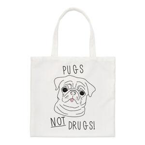 pugs DIVERTENTE shopper piccola Borsa CUCCIOLO CANE FARMACI not rwTUvxqYnr