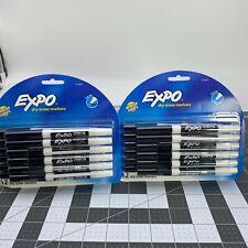 Lot Of 2 Expo Low Odor Dry Erase Marker Fine Tip Black Pack Of 12 24 Total