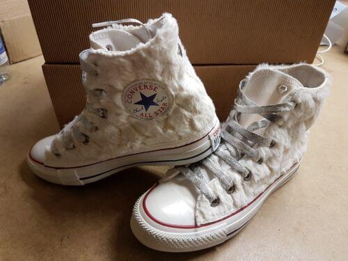 E Bianco All Pelo Glitterati Argento Bianca Ai Converse Lati Con Lacci Star axApWZq0
