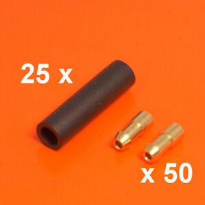 s l300 4 7mm brass bullet connectors & sockets 75 pieces lucas style