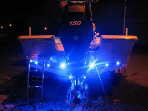 4x Blue LED Boat Light Waterproof 12v Deck Storage Kayak Bow Trailer Bass Aqua