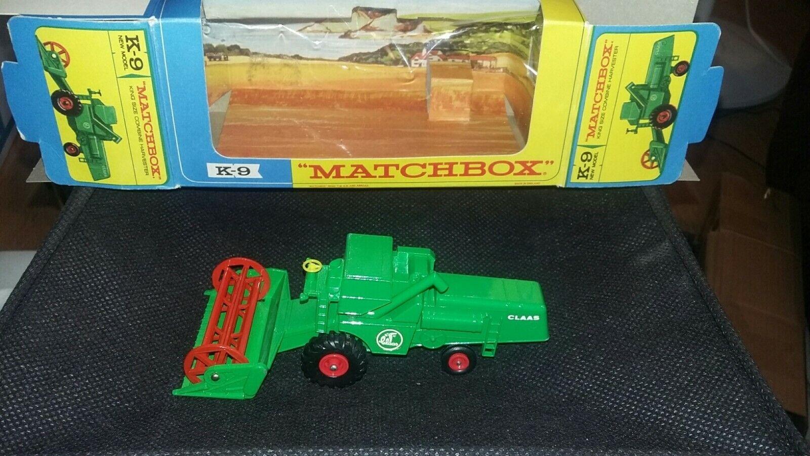MATCHBOX LESNEY, K9 moissonneuse-batteuse, vert, Comme neuf in box, 1 43 belle