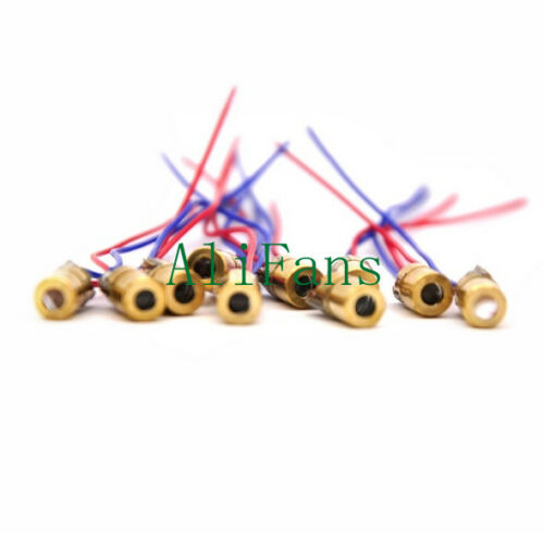 50PCS 650nm Laser Dot Diode Module Copper Head Diode Red Laser Circuit 3-5V 5mW