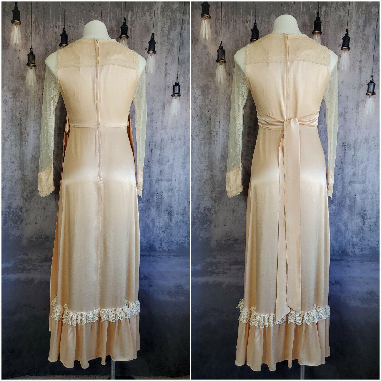Gunne Sax satin beauty prairie 1970s dress - image 5