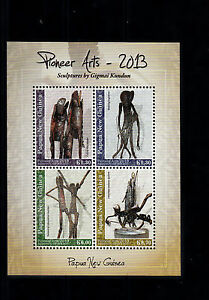 Official Website Papua New Guinea 2013 Mnh Pioneer Arts Sculptures By Gigmai Kundun 4v M/s Art Stamps