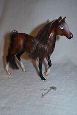 "BROWN HORSE BROWN MANE 8"" HIGH TM & MGA BRATZ BARBIE DOLLS TOY equestrian"