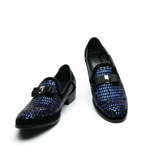 Details about  /Mens Low Top Faux Leather Shoes Pointy Toe Dress Formal Oxfords Slip on Party L