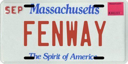 Fenway Park in Boston Massachusetts Aluminum MA License Plate