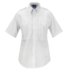 White Propper Men/'s Short Sleeve Tactical Shirt Poplin