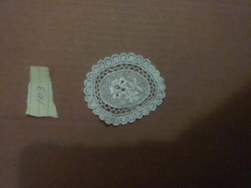 3pc Victorian Venice Venise Lace Applique Hats Baby Trim Scrap booking #E103