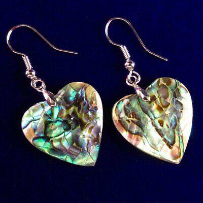 quartz heart earrings Valentine\u2019s Day gift Abalone shell