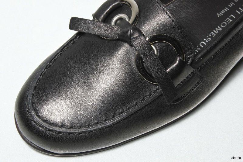 Nouveau  485 ATTILIO ATTILIO ATTILIO GIUSTI LEOMBRUNI cuir noir Flats 5.5 - Super Doux 908e84