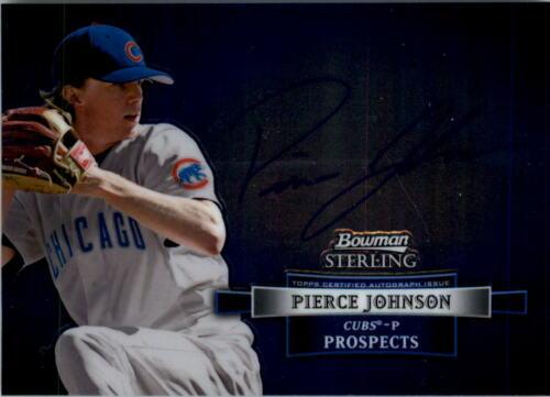 2012 Tarjeta de béisbol de autógrafos Bowman Sterling Prospect Pick