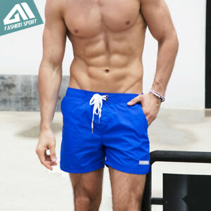 Quick-Dry-Men-039-s-Swim-Shorts-Summer-Board-Shorts-Surf-Swimwear-Beach-Short-Trunks
