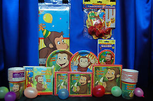 Image is loading Curious-George-Party-Set-16-Curious-George-Party- & Curious George Party Set # 16 Curious George Party Supplies For 16 ...