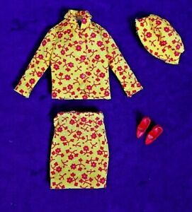 Vintage-Barbie-Mod-TNT-Era-EXC-Comp-TRAVEL-TOGETHERS-Outfit-1688-CT-Shoes-BIN