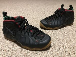new arrival ac060 5c11b Details about Nike Air Foamposite Pro Black Gym Red Gorge Green 624041-004  Size 13 Used