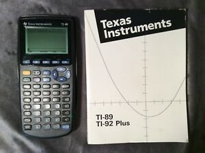 texas instruments black ti 89 scientific calculator manual book case rh ebay com texas instruments ti-89 titanium manual pdf español texas instruments ti 89 manual pdf