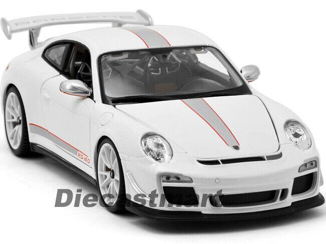 Bburago 1 18 11036 Porsche 911 997 GT3 R 4.0 tärningskast modellllerler Coche vit