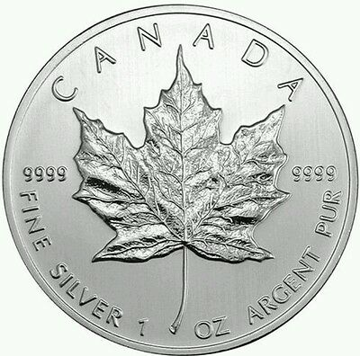 2013 CANADA Canadian Maple Leaf Silver Bullion Coin $5 BU UNC FREE CAPSULE