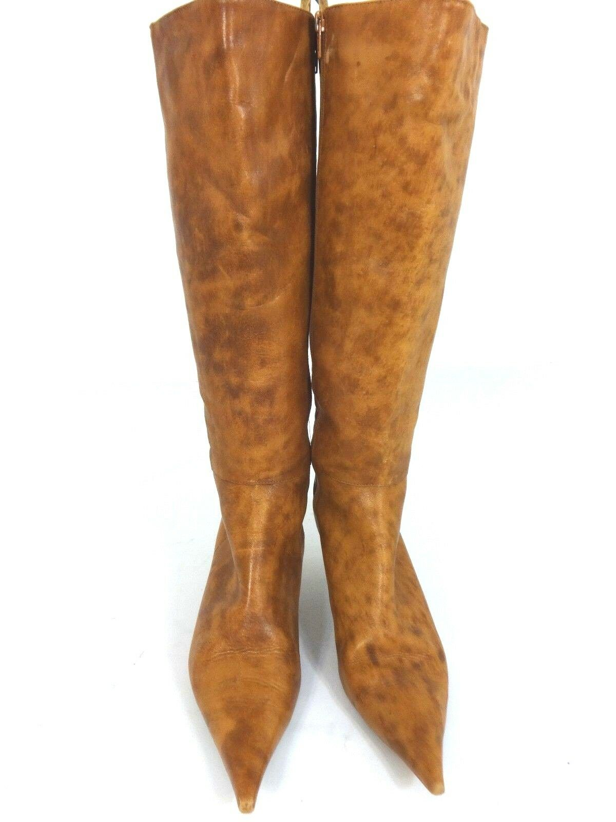 EXPLOSION WOMENS BROWN LEATHER 18 TALL BOOTS SIZE US 8 M