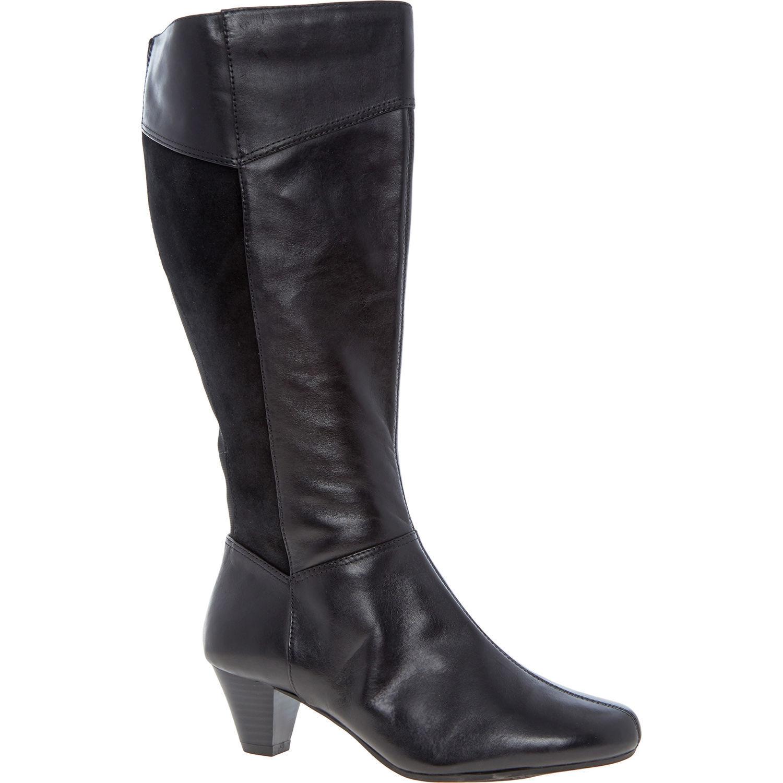 Clarks Para Mujer botas De Cuero Negro Negro Negro K, ajuste ancho, tamaño de Reino Unido 4 EU37  genuina alta calidad