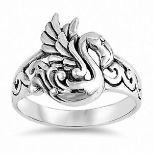 Flamingo-Band-Ring-925-Sterling-Silver-Choose-Color
