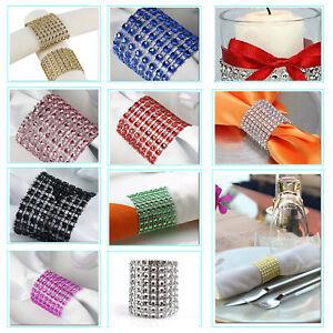 Acrylique-Diamant-Serviette-Anneaux-Support-Mariage-Banquet-Diner-Table-Decor