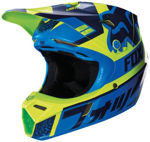 Reithelme Blau/Grün Kinder Quad Bmx Mips Youth Fox V3 Division Motocross Mx Helm