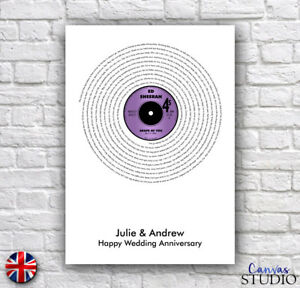Personalised-Vinyl-Record-Wedding-Song-Lyrics-Anniversary-Gift-Present-Print
