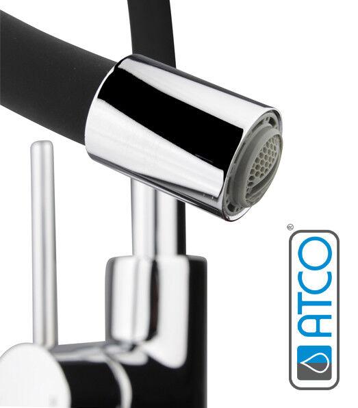ATCO® FLAMINGO Wasserhahn Armatur Waschtisch Spültisch Auslauf flexibel schwarz | Räumungsverkauf  | Viele Stile  |  Neuer Markt  | Rabatt