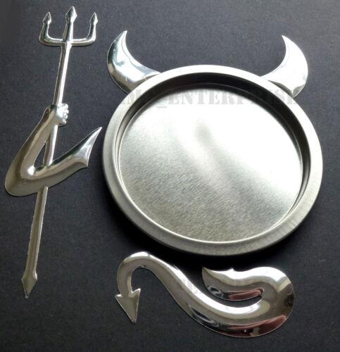 Self Adhesive Chrome Effect Devil Badge Sticker for Skoda Superb Roomster Felici