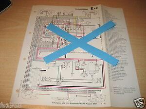 schaltplan vw 1500 karmann ghia ab august 1969 ebay. Black Bedroom Furniture Sets. Home Design Ideas