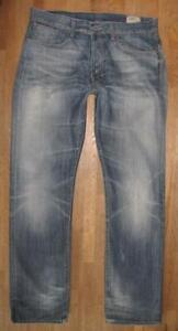 "G- Star Raw "" 3301 Straight "" D'Homme Jeans / Blue-Jeans en Bleu W34 "" / L34 """